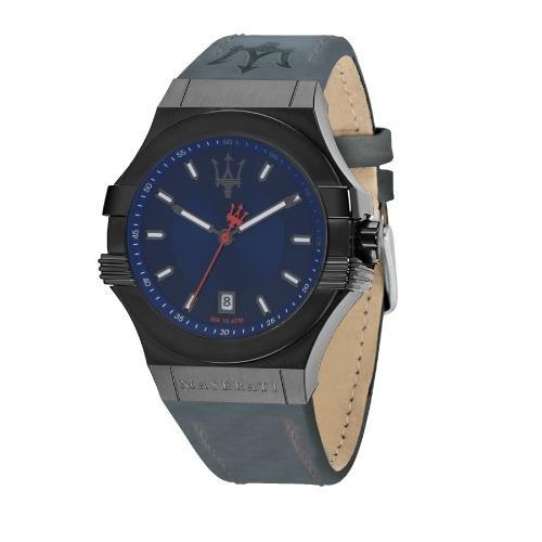 Maserati Potenza 45mm 3h blue dial blue strap uomo R8851108021