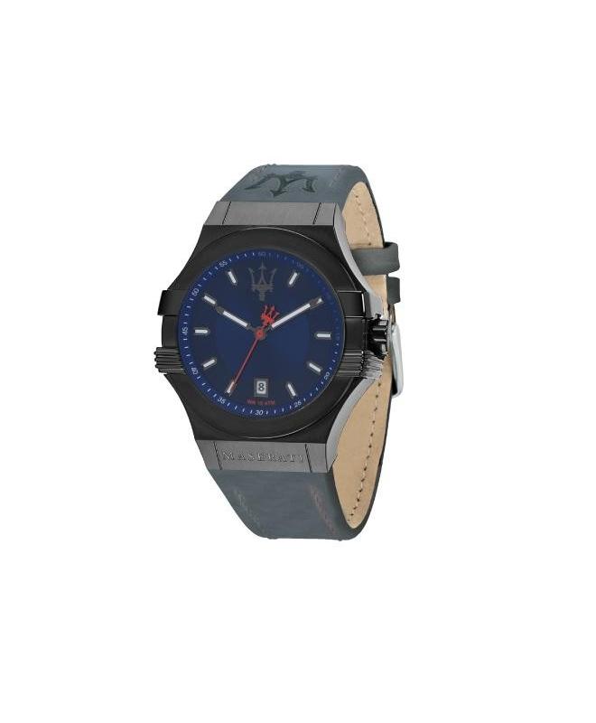 Maserati Potenza 45mm 3h blue dial blue strap uomo R8851108021 - galleria 1