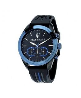Maserati Traguardo chr blue dial sil str b ip blk