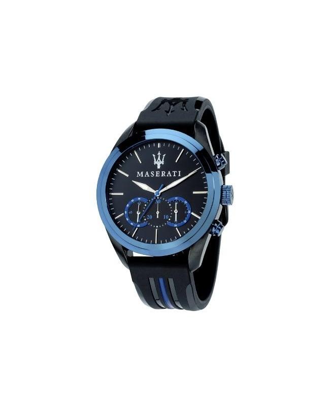 Maserati Traguardo chr blue dial sil str b ip blk - galleria 1