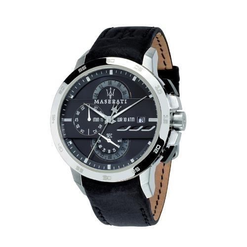 Maserati Ingegno chr 45mm gray dial black str ss