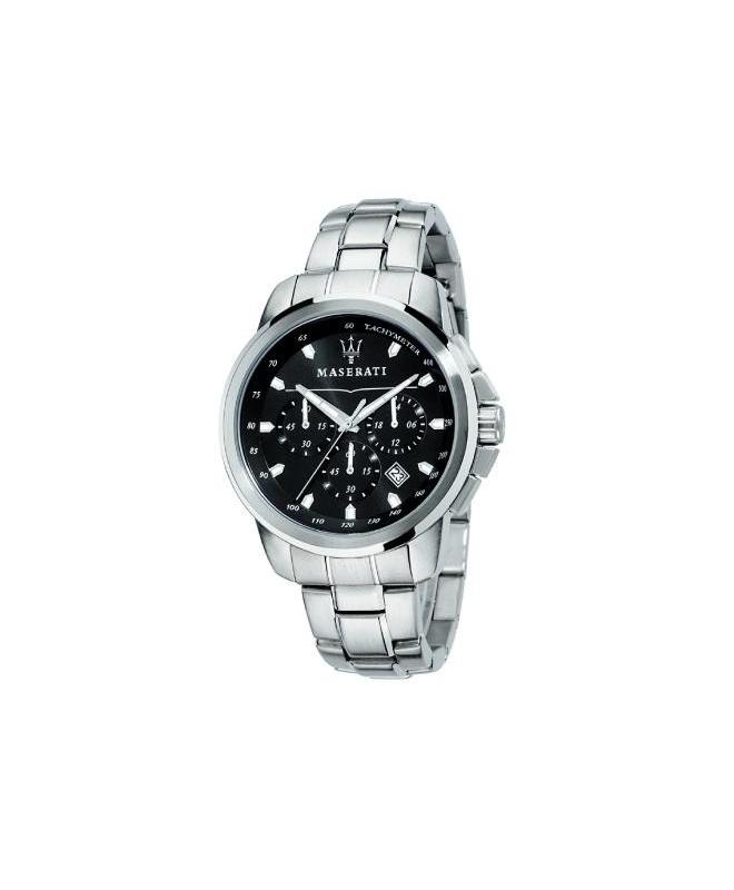 Maserati Successo 44mm chrono black d br ss c - galleria 1