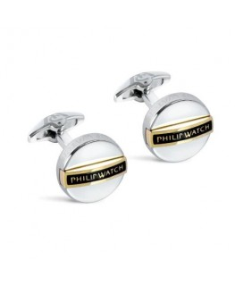 Philip Watch Philip watch j cufflinks ss+yg pvd w/ bl