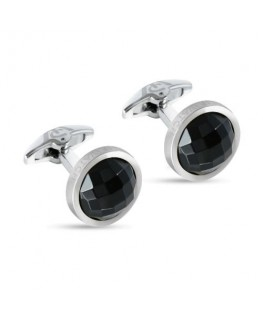 Philip Watch Philip watch j cufflinks ss w/black crys