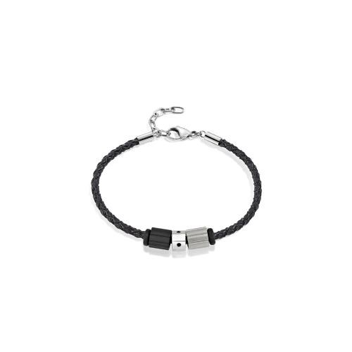 Sector Gioielli Ace br. 3 beads leather chain uomo SAAL145