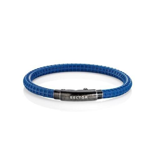 Sector Gioielli Basic soft br.blue silicon vintage buckl uomo