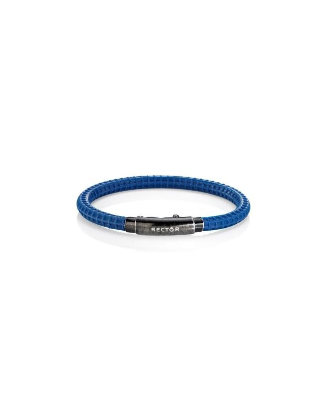 Sector Gioielli Basic soft br.blue silicon vintage buckl uomo - galleria 1