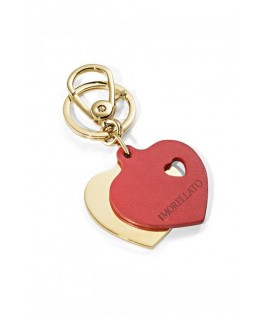 Morellato Portachiavi leather yg+red heart
