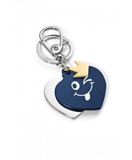 Portachiavi Morellato Heart pelle blu donna SD8510