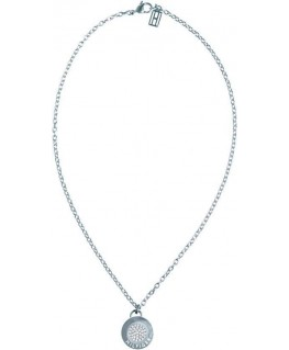 Tommy Hilfiger Coin necklace w/ pave center ss