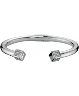 Tommy Hilfiger Hinged pave crystal cuff bracelets ss