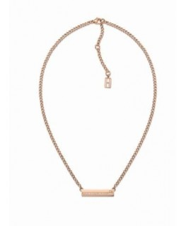 Tommy Hilfiger Thin pave plaque neck-p. rg-l.40.64 cm