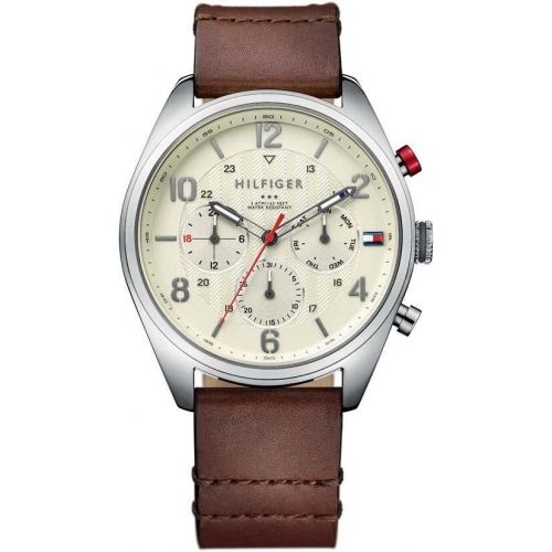 Tommy Hilfiger Corbin 44mm multi. parch. dial brw l str