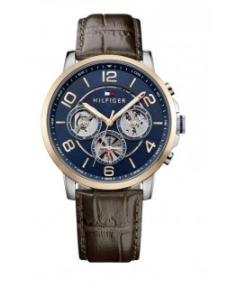 Tommy Hilfiger Keagan 44mm mult. blue dial st brown
