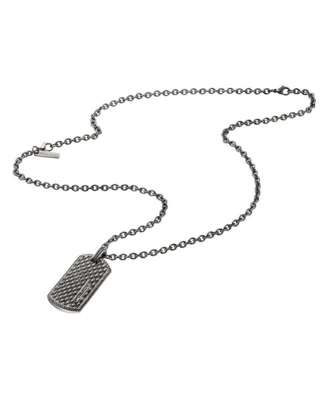 Police Lizard necklace antique silver 500+200mm - galleria 1