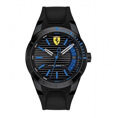 Ferrari Redrevt-3hd-ipblk-w/bl accents-blk sil s