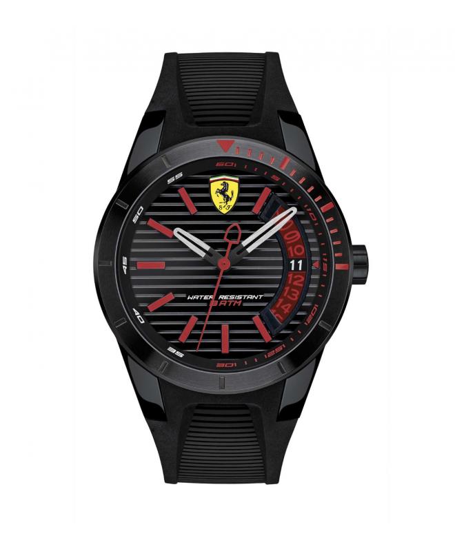 Ferrari Redrevt-3hd-ipblk-w/bl accents-blk sil s - galleria 1