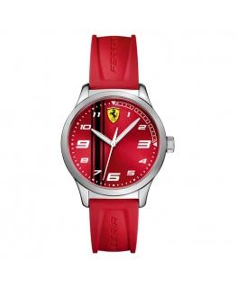 Ferrari Pitlane 3h silicon strap-red
