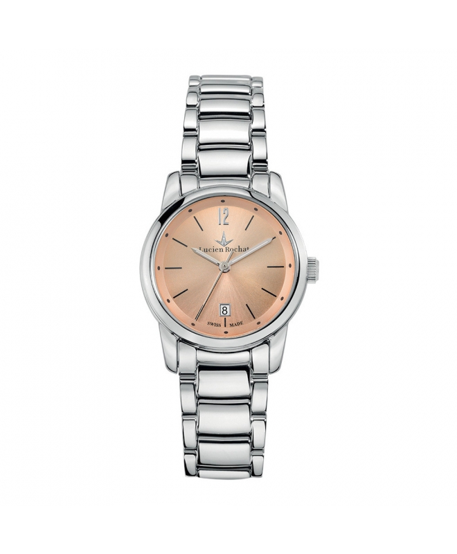 Lucien Rochat Geste' lady 30mm 6h silver dial ss br - galleria 1