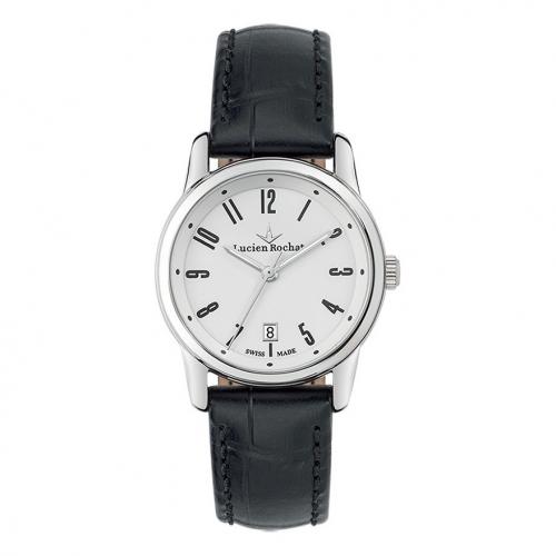 Lucien Rochat Geste' lady 30mm 3h white dial black st