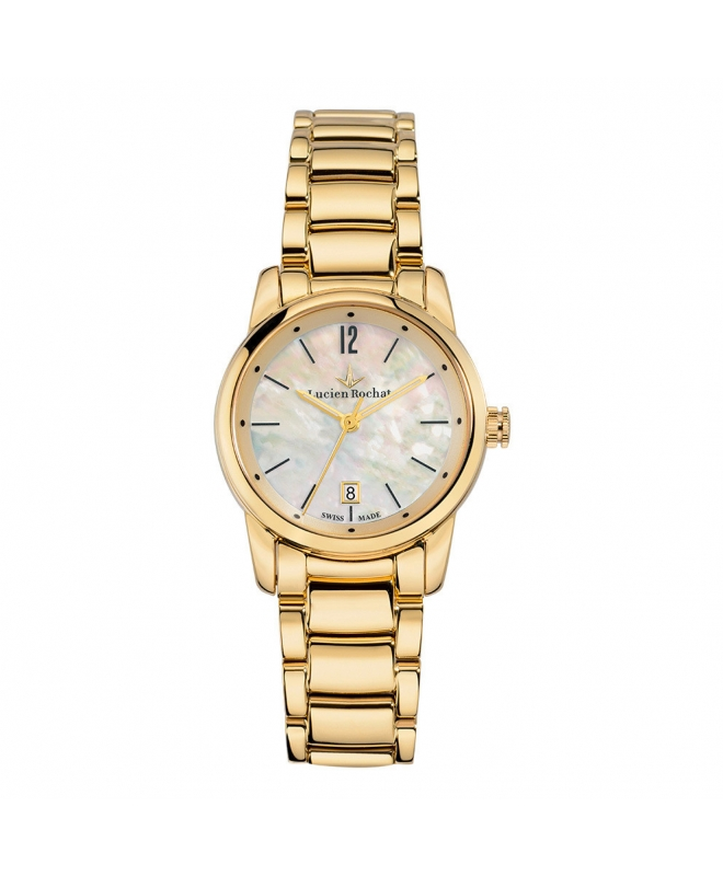 Lucien Rochat Geste' lady 30mm 3h mop dial yg br - galleria 1