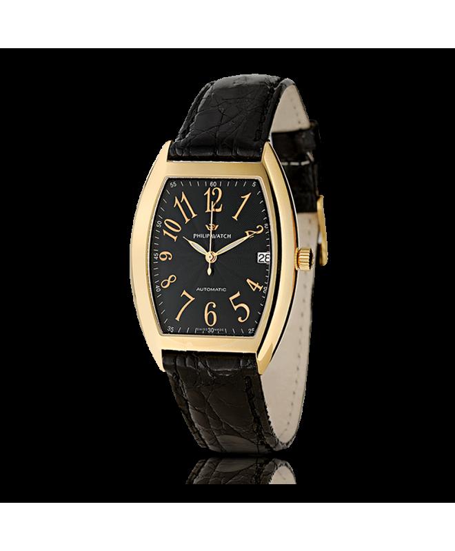 Philip Watch C panama 3h.aut.g.black d.bla.s. uomo R8021850011 - galleria 1