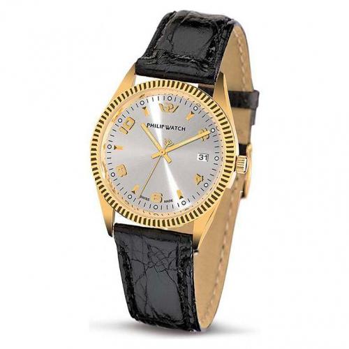Philip Watch c caribe 3h silver dial/black strap uomo