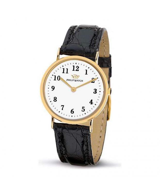 Philip Watch C capsulette 2h 30mm gold d/black s donna - galleria 1