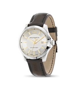 Philip Watch Blaze 3h ivory dial brown strap