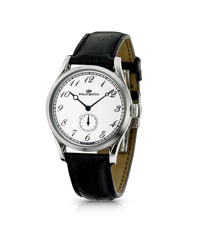 Philip Watch Sunray 150 auto man. white dial/strap uomo - galleria 1