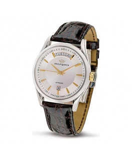 Philip Watch Sunray 3h auto-date silver d/brown st