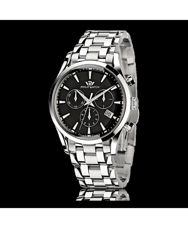 Philip Watch Sunray chr black dial/bracc uomo R8273908165 - galleria 1