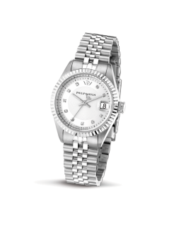 Philip Watch Caribe lady 3h silver/white dial brac