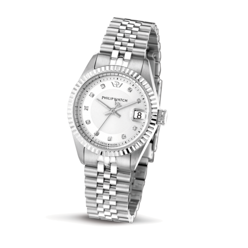 Philip Watch Caribe lady 3h silver/white dial brac donna