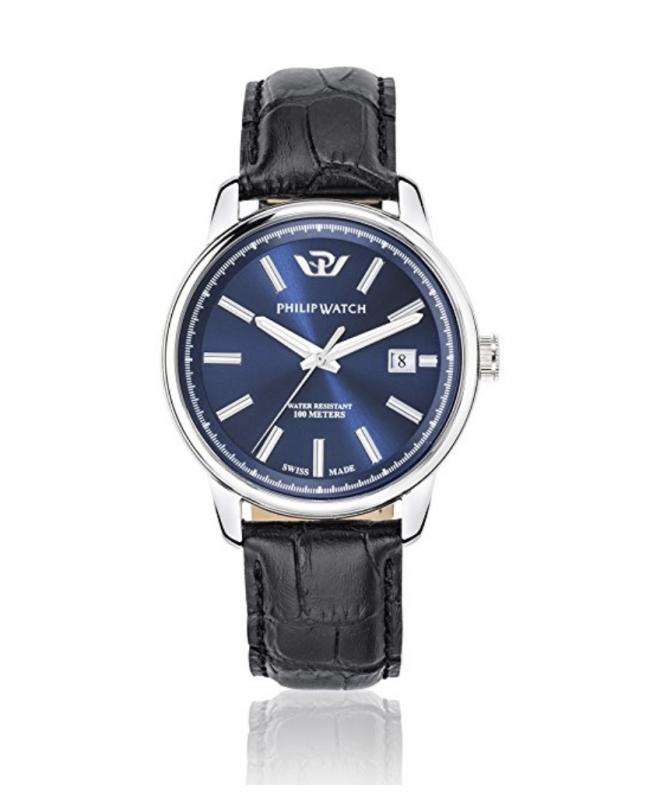 Philip Watch Kent 40mm 3h blue dial strap uomo R8251178008 - galleria 1