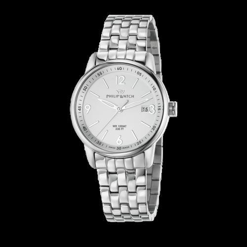 Philip Watch Kent 3h white mattt dial bracelet uomo R8253178005