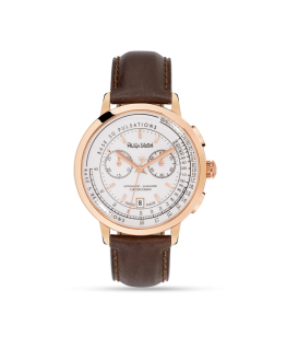 Philip Watch Grand archive 1940 43 chr wht dial br st