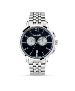 Philip Watch Grand archive 1940 43mm chr blue di ss s
