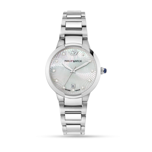 Philip Watch Corley 34mm 3h white dial br ss donna R8253599502