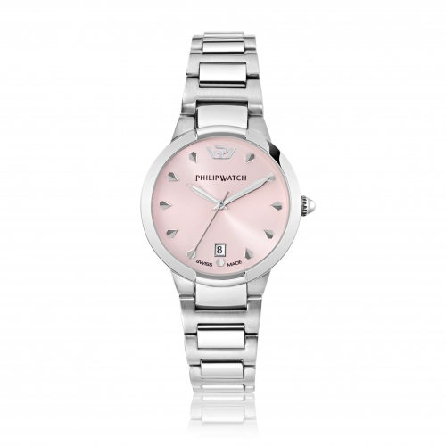 Philip Watch Corley 34mm 3h l.rose dial br ss donna R8253599508
