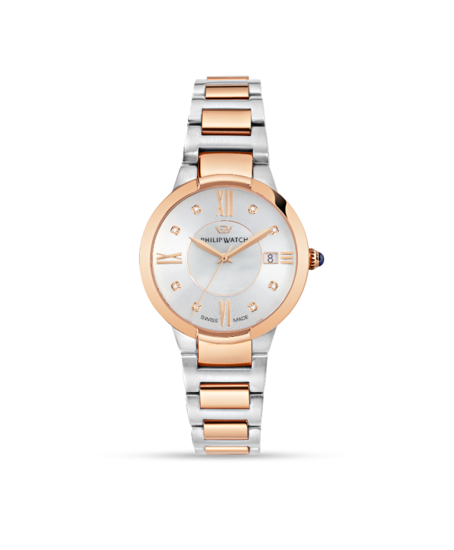 Orologio Philip Watch Corley 34mm bicolore acciaio / oro rosa - galleria 1