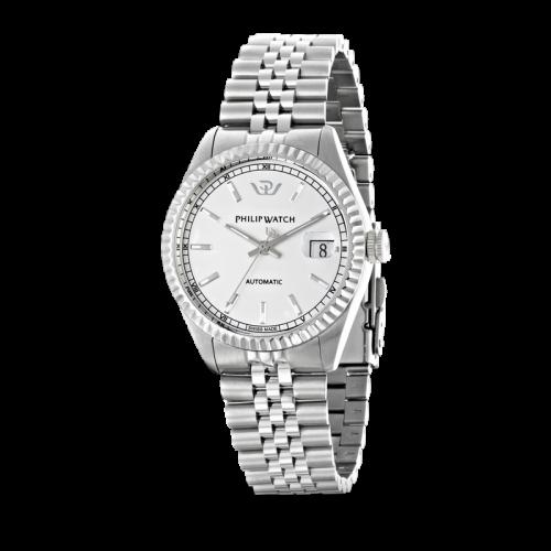 Philip Watch Caribe auto white silver bracelet uomo R8223597009