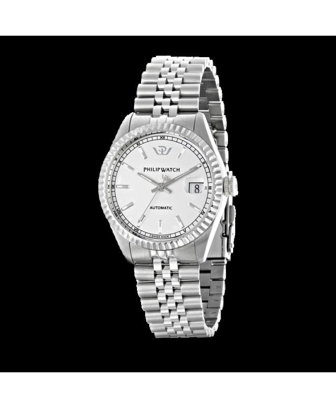 Philip Watch Caribe auto white silver bracelet uomo R8223597009 - galleria 1