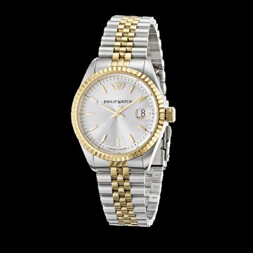 Philip Watch Caribe 3h white silver dial brac uomo R8253107010