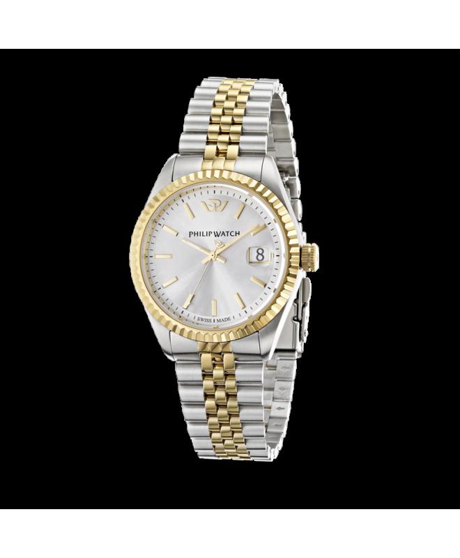 Philip Watch Caribe 3h white silver dial brac uomo R8253107010 - galleria 1