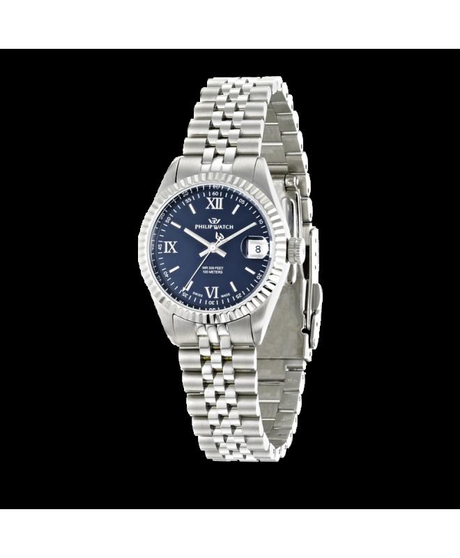 Philip Watch Caribe 3h dark blue dial /bracelet donna - galleria 1