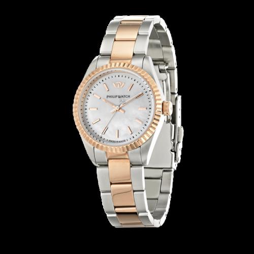 Philip Watch Caribe ext 3h white dial /brac rg donna R8253107513