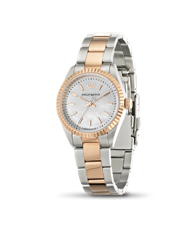 Philip Watch Caribe ext 3h white dial /brac rg donna R8253107513 - galleria 1
