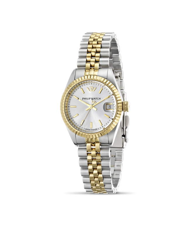 Philip Watch Caribe 3h white silver dial bracelet donna - galleria 1