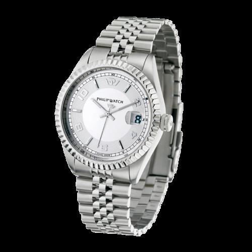 Philip Watch Caribe gent 3h white dial/bracelet uomo R8253597002